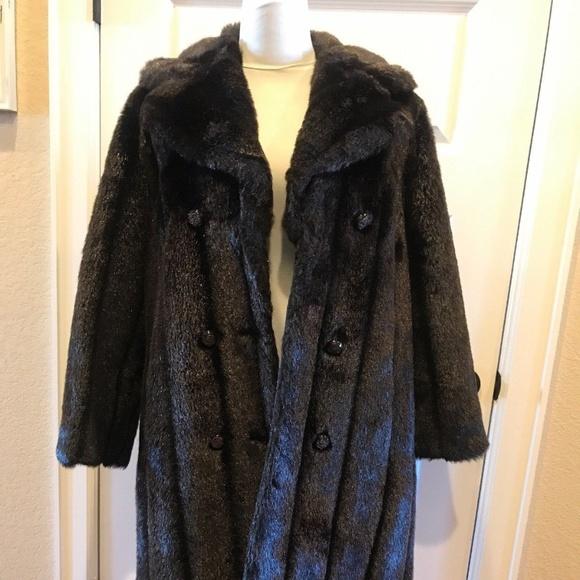 Mar Del by Rice Vintage Jackets & Blazers - Mar-Del By Rice Vintage Brown Faux Fur Coat